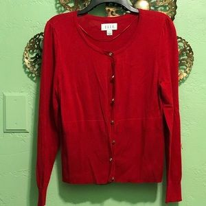 Elle Cardigan Button Up Sweater with Bow in Back